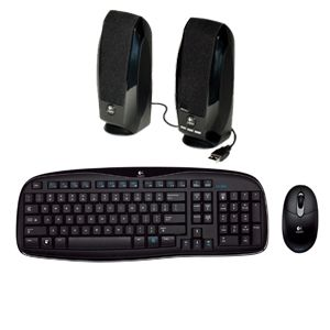 Keyboard, speakers and mouse