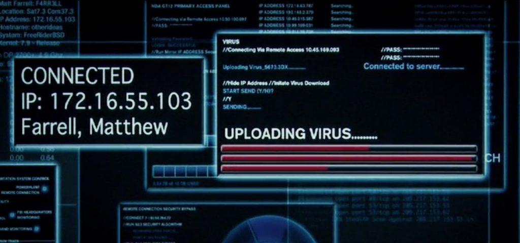 virus hackers computer screen